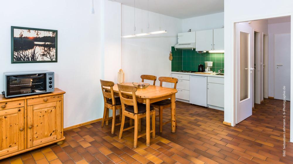 Die offene Wohnküche ...